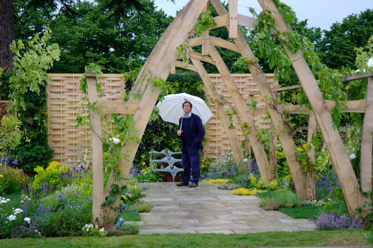 Oak pergola RHS Hampton Court